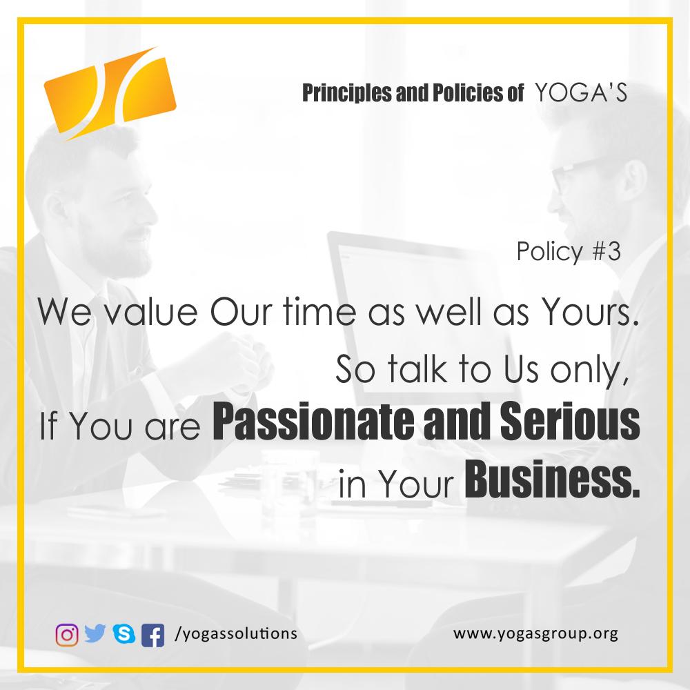 Policies and Principle 3