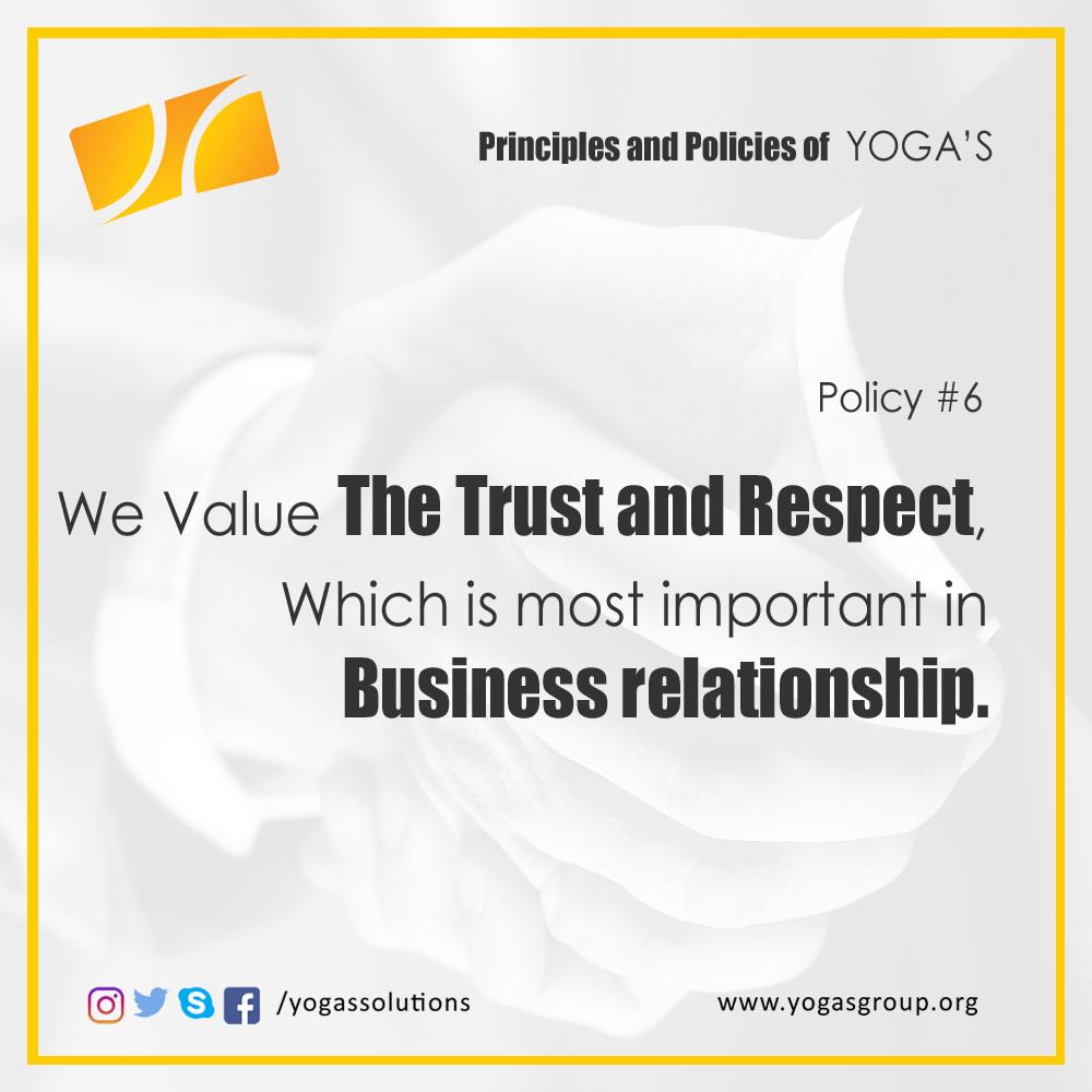 Policies and Principle 6