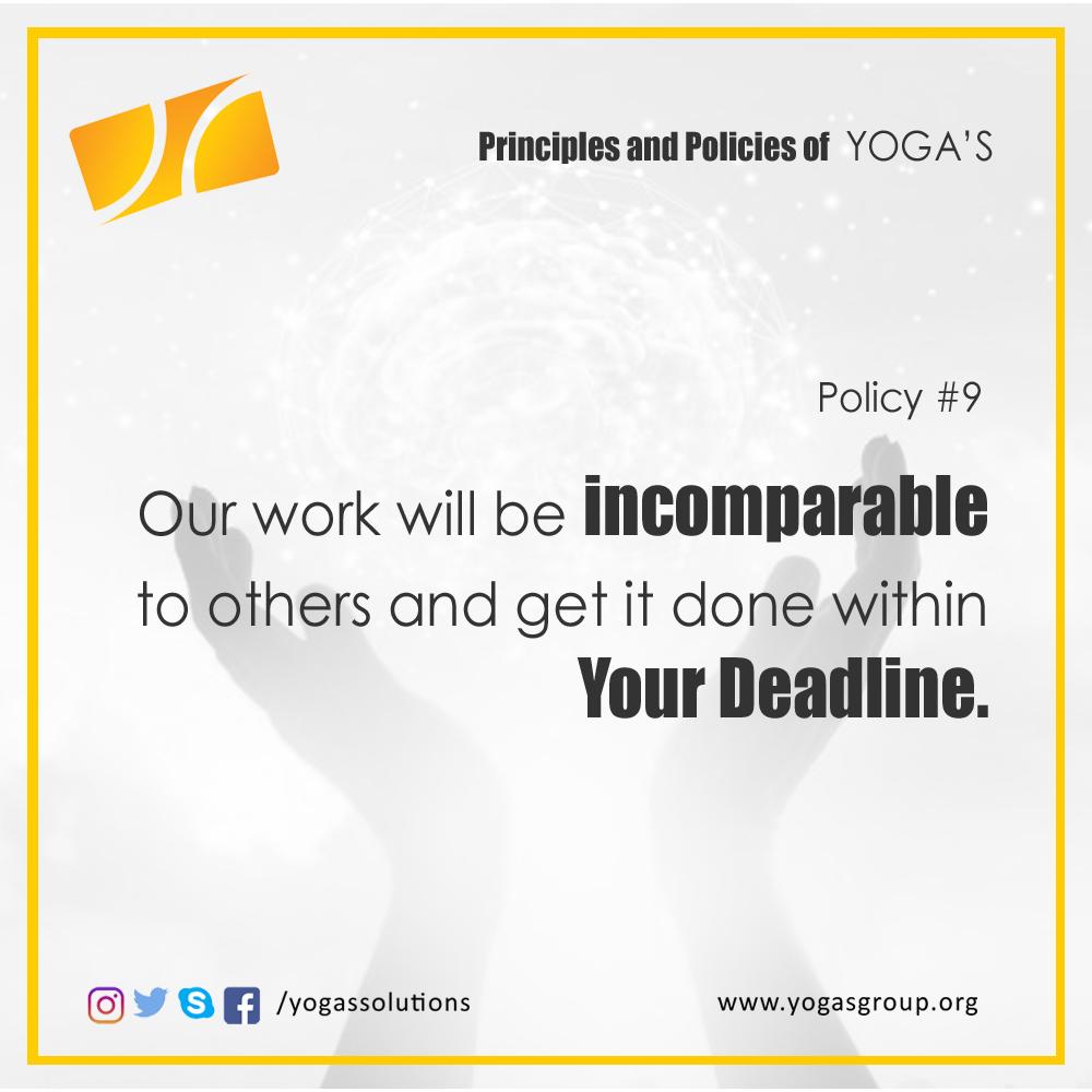 Policies and Principle 9